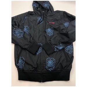 Q Nike Zipper Down Hooded Windbreaker Jacket